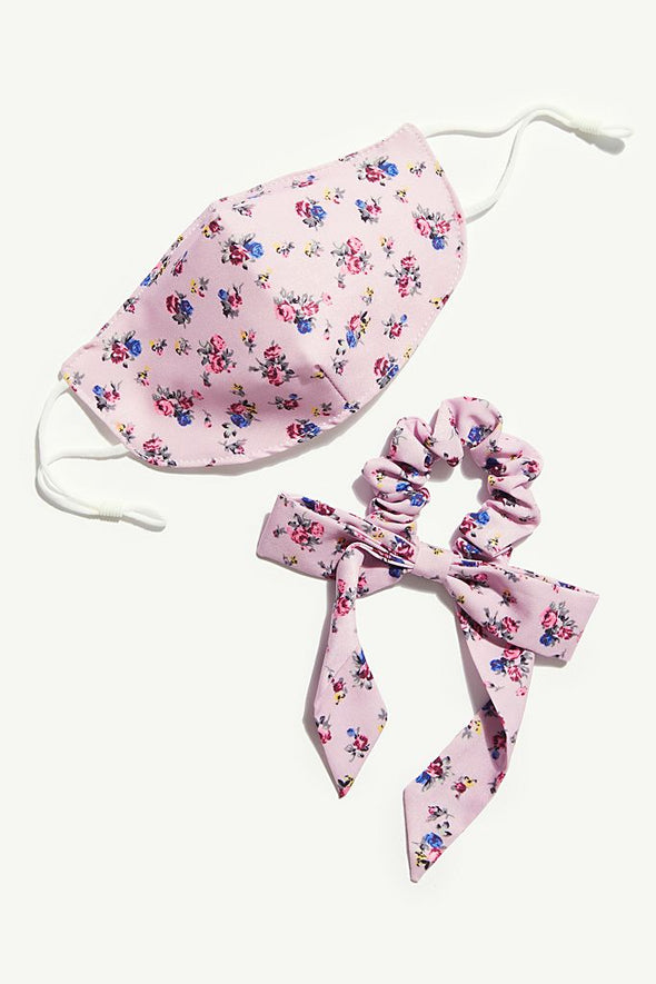Mask & Bow Floral Pack - Lilac
