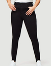 Super high rise black skinny jean from Frame made from super-stretchy fabric.