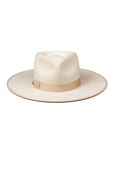 The Ivory Rancher by Lack of Color is designed to make a statement. The 100% Australian wool fedora is inspired from vintage men's styling.