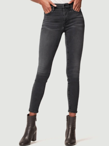 The Le High Skinny Burton from Frame are a 70s inspired high rise skinny jean made from grey wash denim.