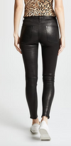 Ankle length, black skinny leather pants from FRAME.