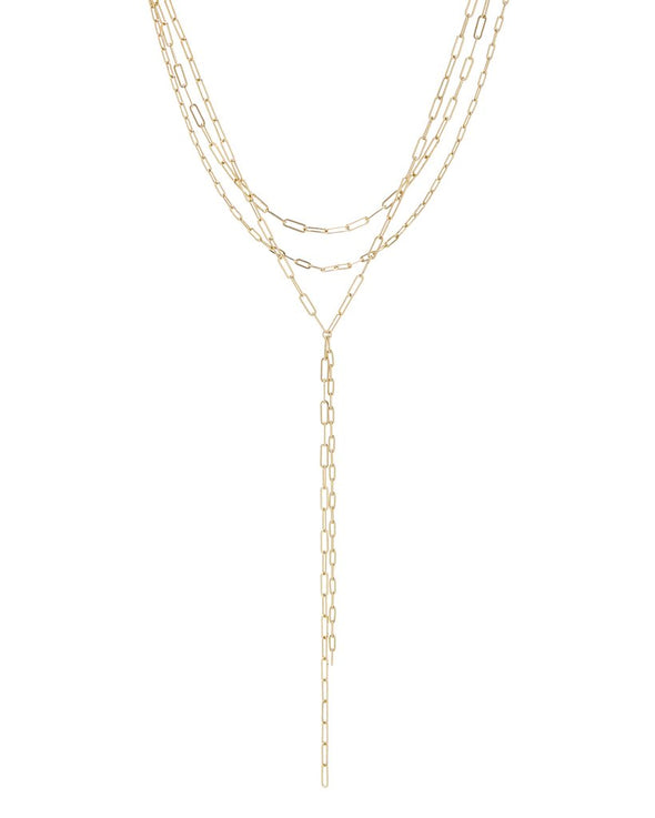 Maja Lariat Necklace - Gold