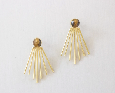 Becca Earrings - Tigers Eye