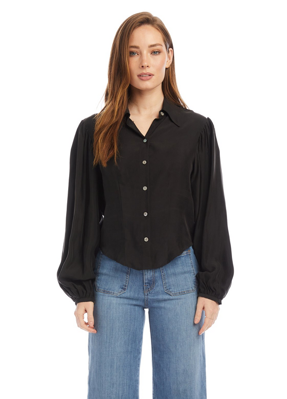 Shirred Sleeve Top by R.G. Kane