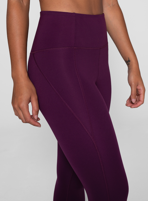 High Rise Compressive Leggings - Plum