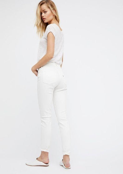 721 High Rise Skinny Jeans - Western White