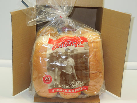 "Costanzo's Buffalo Bakery 7"" White Submarine Roll (6pk)"