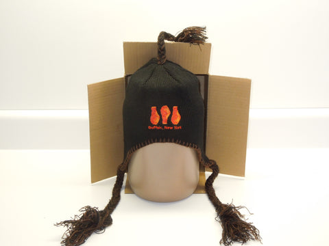 Buffalo Chicken Wing Tassel Hat (Toque) Black