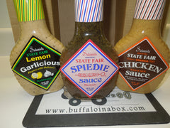 The Big Sauce TRIO - Salamida State Fair Marinades & Sauces - BuffaloINaBox.com: Buffalo, NY Food Shipped