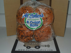 AL COHEN Rolls-Onion or Kaiser(TWIST)  (3oz) 8pk - BuffaloINaBox.com: Buffalo, NY Food Shipped