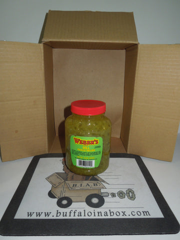 Weber's Buffalo Dill Pickle Relish (16oz) Plastic