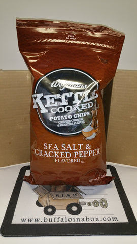Wegmans Potato Chips Kettle- Sea Salt & Cracked Pepper (8.5oz)