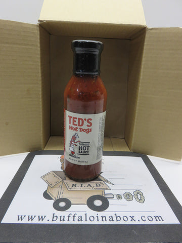 TED'S Famous Hot Chili Dog Sauce (12 oz) Glass