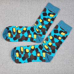 Sponge Candy Socks- Fun socks featuring dark and milk chocolate sponge candy.