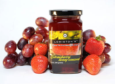 Lewiston Jellies- Strawberry Honey Concord (12oz)