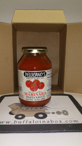 Pellicano's Premium Pasta Sauces- Marinara (24oz) Glass