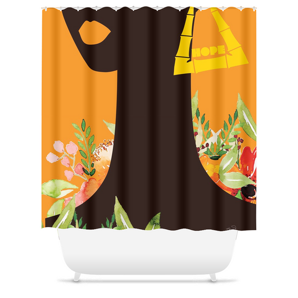 Spring Bamboo: Hope - Shower Curtain