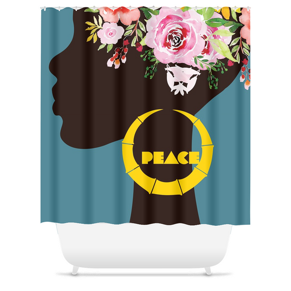 Spring Bamboo: Peace - Shower Curtain