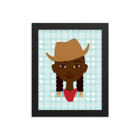 Pioneer Girl Framed poster