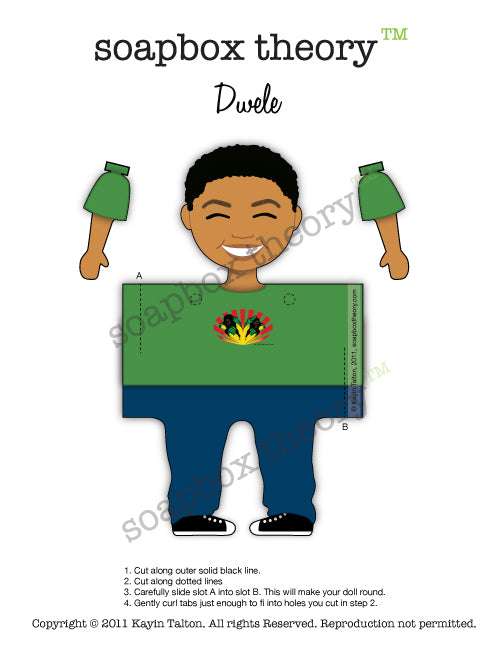 Darling Dwele - Paper Toy *Download*