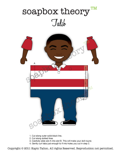 Darling Talib - Paper Toy *Download*