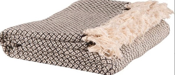 Black cotton throw