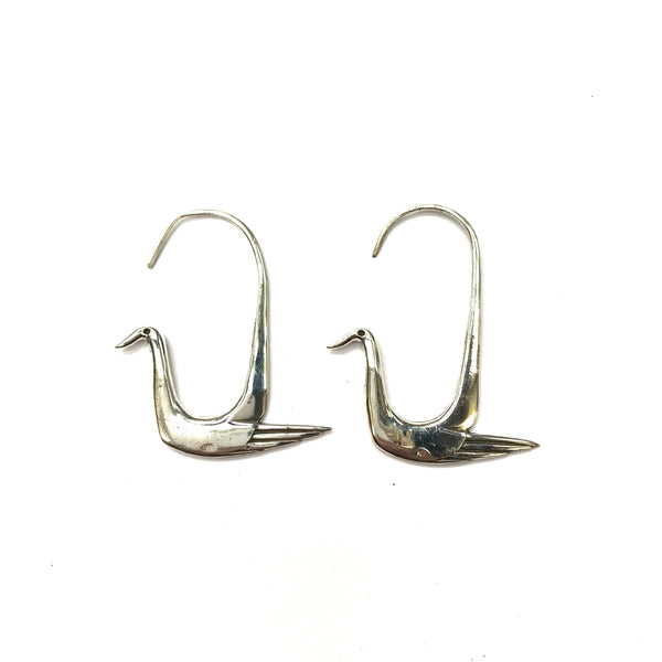 Solid Silver Bird Earrings