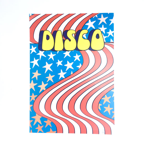 Disco Stars and Stripes by Linda Scott Bubble-writer
