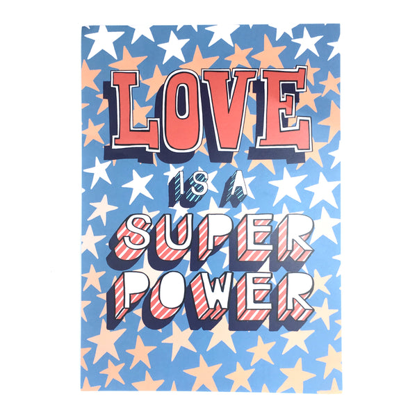 Love is a super power by Linda Scott Bubble-writer
