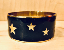 Load image into Gallery viewer, Navy Star Enamel Bangle
