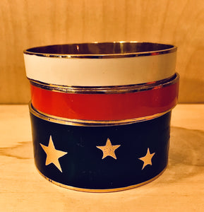 Navy Star Enamel Bangle