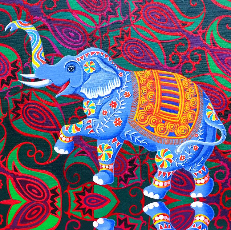 'Indian elephant' card