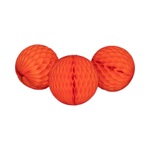 Load image into Gallery viewer, Honeycomb Balls. Bright Orange. Pack of 3 - 15cm