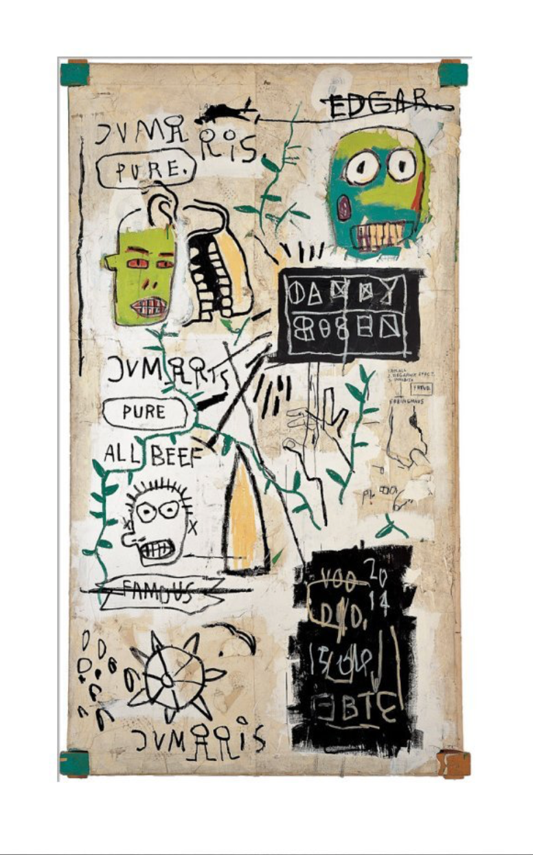 Jean-Michel Basquiat - Danny Rosen, 1983 (Watercolour paper)