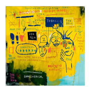 Jean-Micheal Basquiat - Hollywood Africans, 1983 (Watercolour paper)