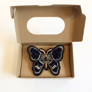 Indigo Butterfly Pin