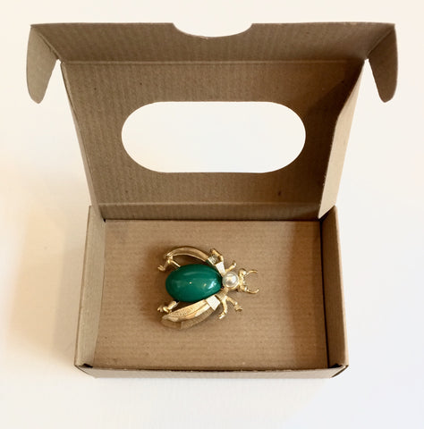 Emerald Insect Pin