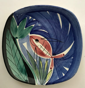 Norwegian Stavangerflint  Decorative Plate by Inger Waage