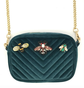 Soho bag in Teal - bejewelled