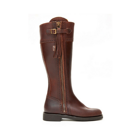 Spanish Riding Boots Classic Brown Wide Calf Fit The Spanish Boot Company
