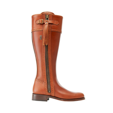 Spanish Riding Boots Classic Tan Wide Calf Fit The Spanish Boot Company