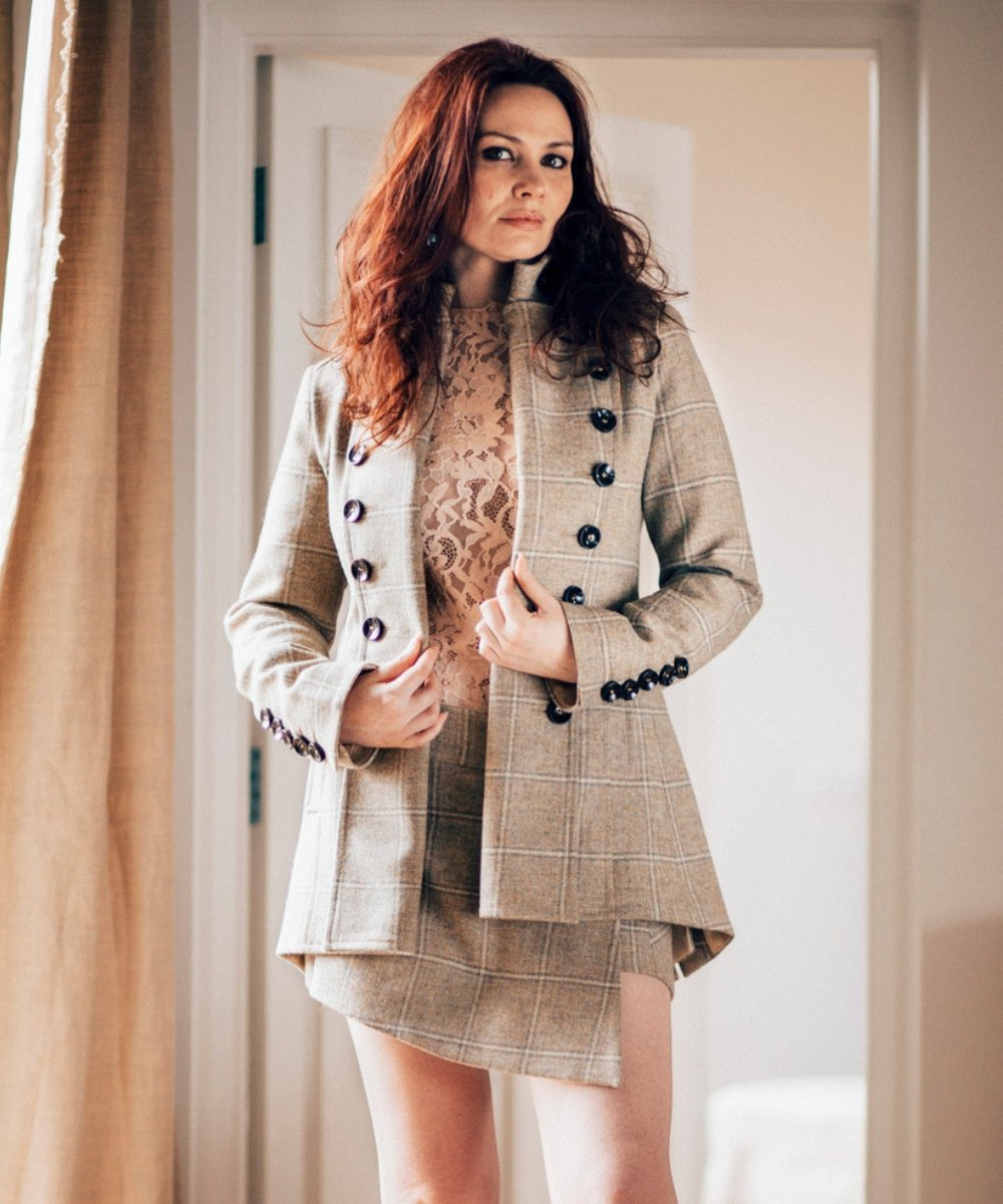 Egality Freedom coats and jackets Libertine Jacket: cream tweed