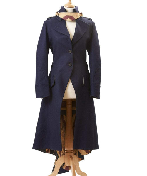 Egality Freedom coats and jackets Sandhurst Fishtail Coat: Navy