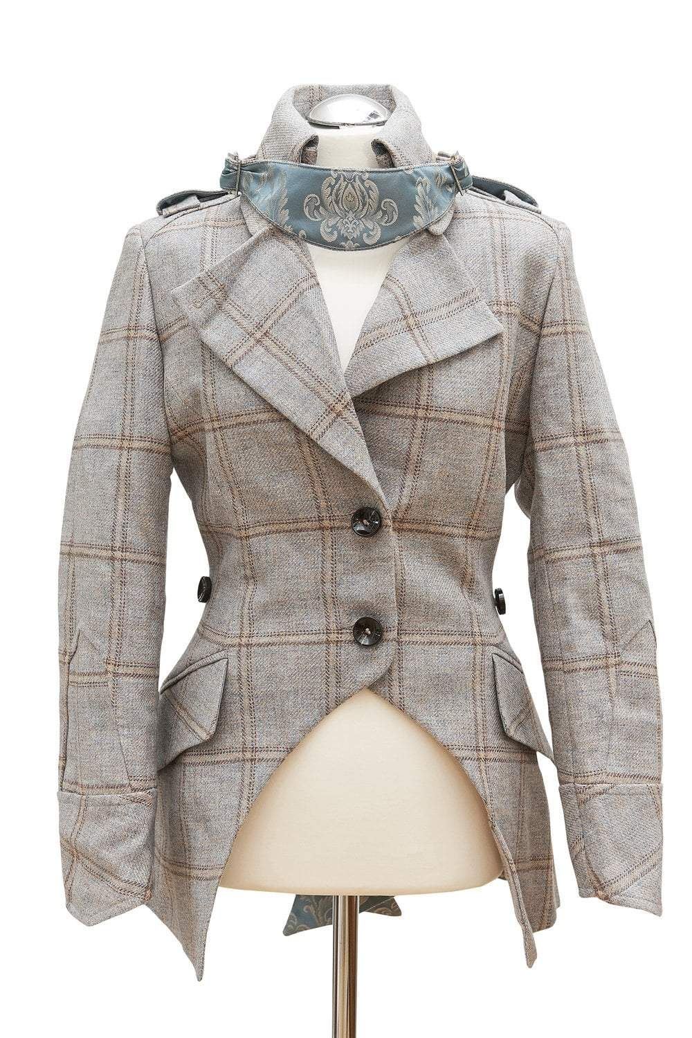 Egality Freedom coats and jackets Sandhurst Fishtail Jacket: duck egg tweed