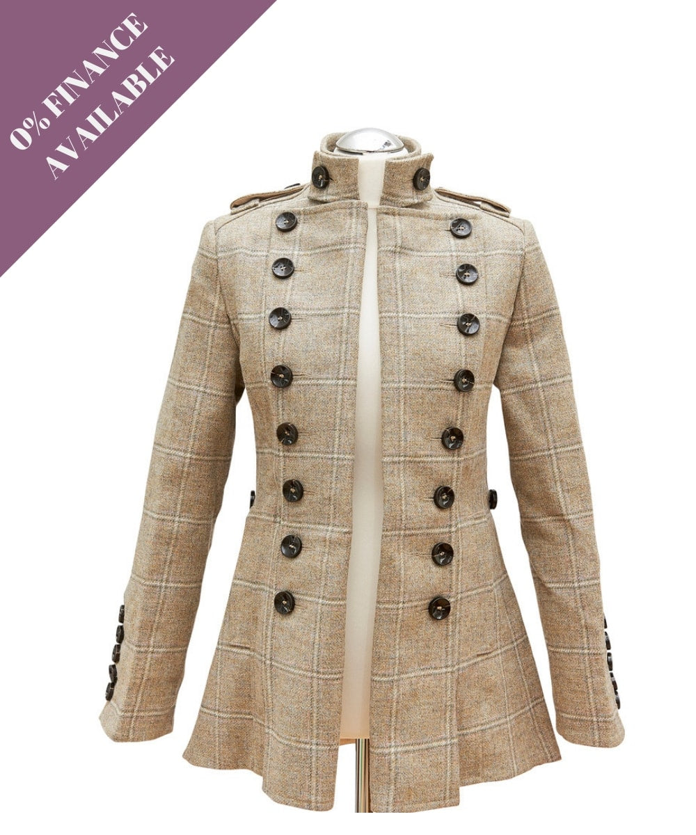 liberty freedom libertine jacket cream tweed