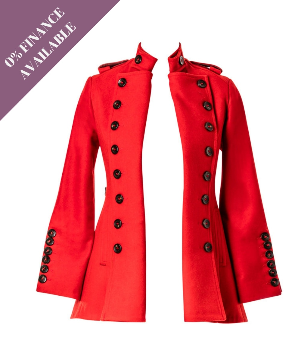 liberty freedom libertine jacket red wool