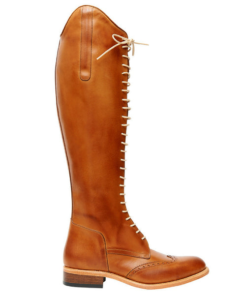The Spanish Boot Company custom boots cordonera tobacco