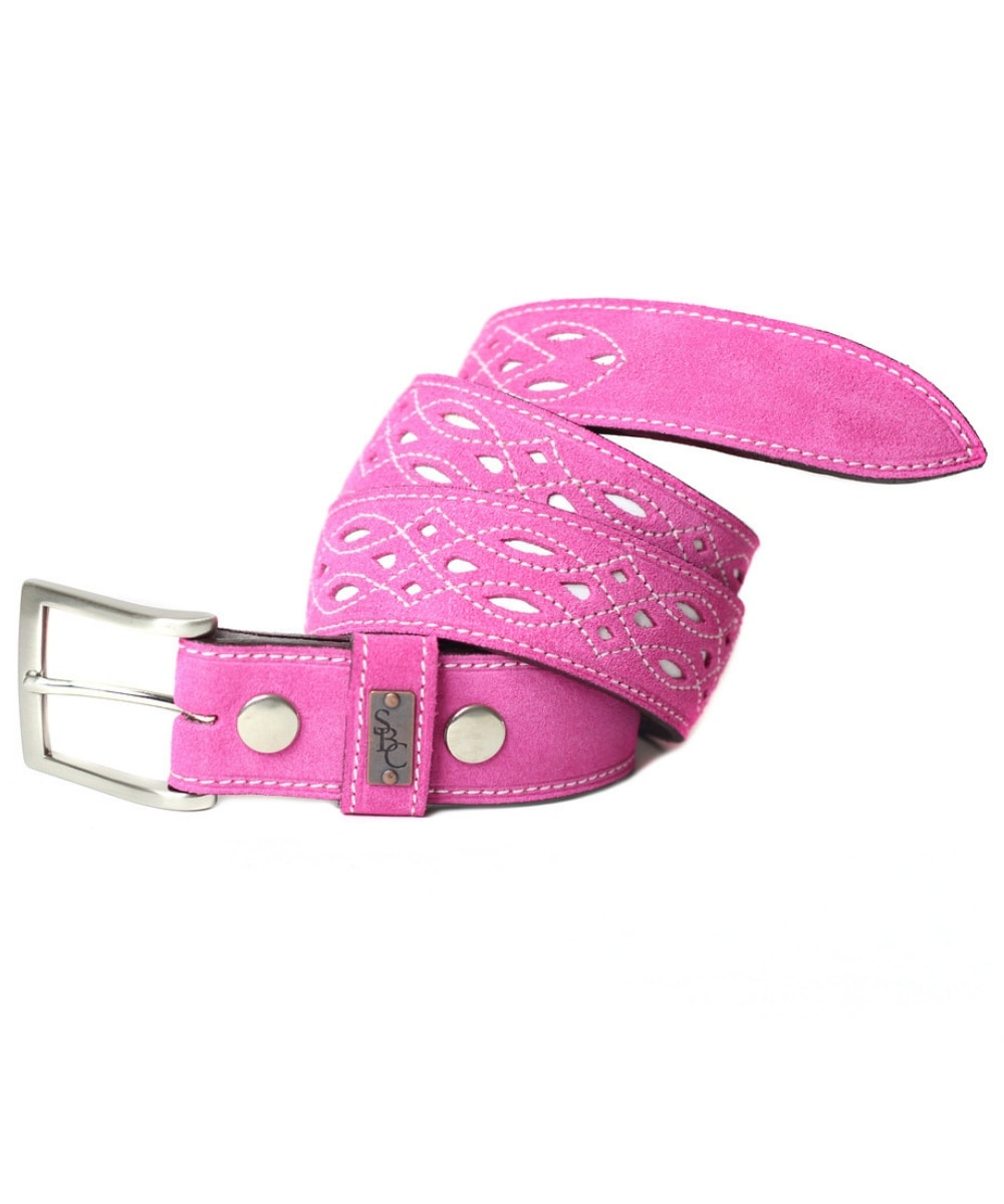 The Spanish Boot company pink suede belt