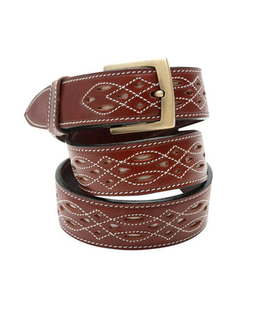 Spanish Leather Belt: Navy