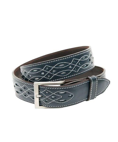 The Spanish Boot Company Belts Spanish Leather Belt: Navy